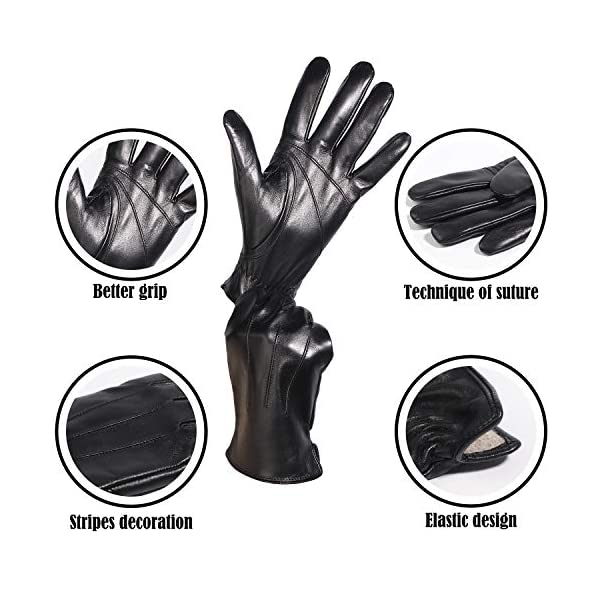 Aemilas Genuine Leather Cold Weather Winter Gloves 4