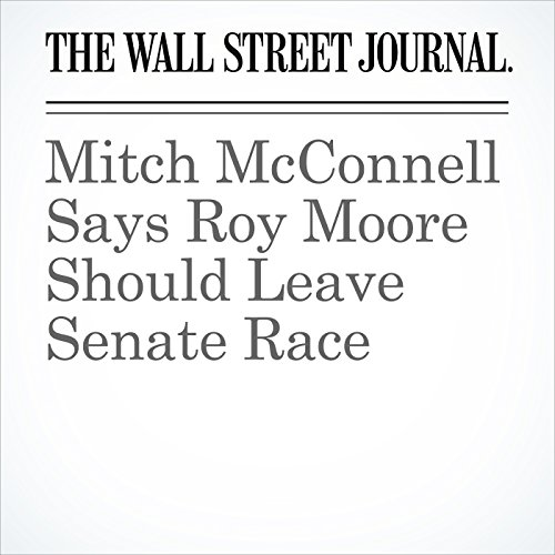 Mitch McConnell Says Roy Moore Should Leave Senate Race copertina