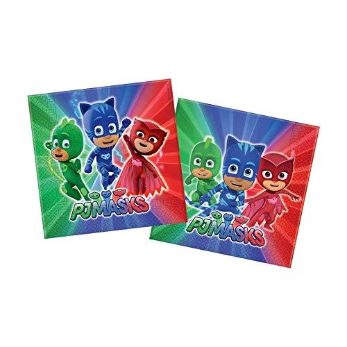 takestop® 20 stuks papieren zakken voor feesten Pj Mask Nickelodeon Land_335 USA E Getta Festa Party verjaardag geboorte doop