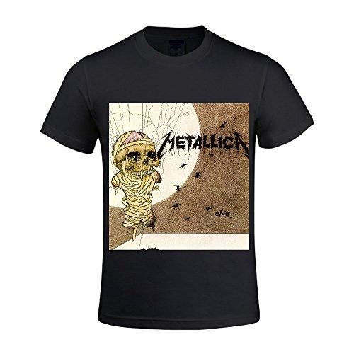 Metallica One Single Men T Shirts Crew Neck Digital Printed Black