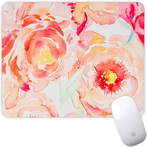 Marphe Mouse Pad Mousepad Non-Slip Rubber Gaming Mouse Pad Rectangle Mouse Pads for Computers Laptop (Peach Flowers)