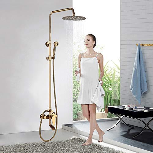Grifos dorados de cuarto baño
