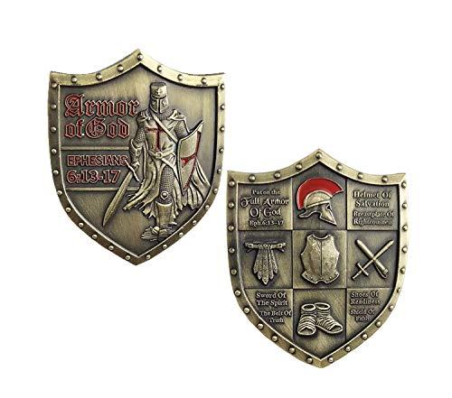 BirchRiver Armor of God Challenge Coin- Shield of Faith - Ephesians 6:13-17 - Put on The Armor of God - Commemorative Keepsake