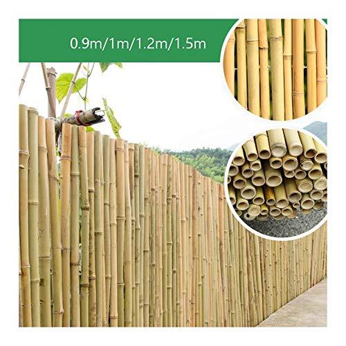 GDMING Valla De Bambú Pantalla De Privacidad del Balcón Durable Protección contra El Viento/UV Borde para Al Aire Libre Panel De Valla De Pared Antióxido Enlace De Alambre, 12 Tamaños