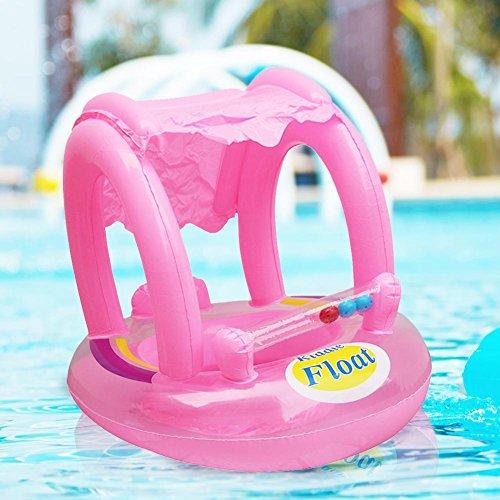 Haodene Siège de flotteur Bateau de bébé Bague de piscine Natation gonflable...