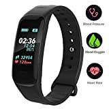 VSDG Fitness Tracker,Color Screen Activity Tracker Watch with Blood Pressure Blood Oxygen, IP67 Waterproof Smart Band with Heart Rate Sleep Monitor Calorie Counter Pedometer for Men, Women and Kids