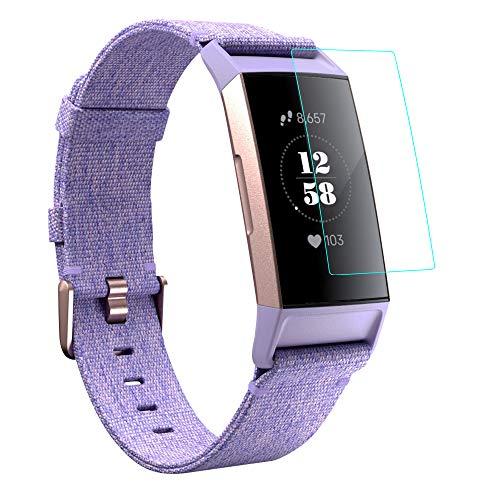 KIMILAR [12 Stück Schutzfolie Kompatibel mit Fitbit Charge 4 /Charge 3 Bildschirmschutzfolie, Volle Abdeckung Flexibel Kristallklare Bildschirmschutzfolie Folie für Charge 3 und 4 und Special Edition (99prozent HD)