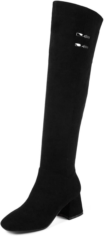 AdeeSu Womens Nubuck Solid Boots Urethane Boots SXE04942