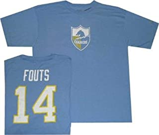 Reebok San Diego Chargers Dan Fouts Throwback Pro Style Oversized T Shirt