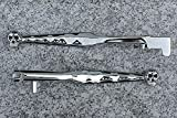 i5 Chrome Skull Front Brake & Clutch Levers for Kawasaki Vulcan EN 500 VN 800 900 2000 Classic Custom Drifter LT 1990-2020.