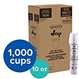 Dart DRC10J10 Styrofoam Insulated Foam Cups, 10 oz, 1000ct. (40 Packs of 25), DCC10J10CT, White