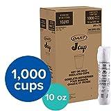 Dart DRC10J10 Styrofoam Insulated Foam Cups, 10 oz, 1000ct. (40 Packs of 25), , White