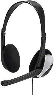 Hama PC Headset 'HS P100' mit Mikrofon (ultra leicht, On Ear, Stereo, Lautstärkeregler am Kabel, 2 m Kabellänge, 3,5 mm Klinke) schwarz