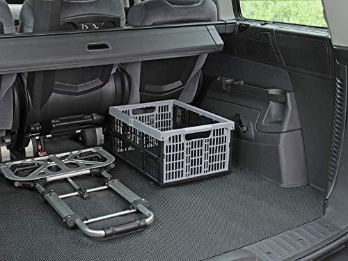 """lasiprofi Kofferraummatte universal zuschneidbar Schmutzfangmatte MT\""""Safety CAR\"""" 120 x 90 cm schwarz"""