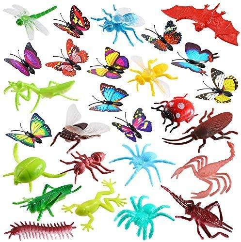 Auihiay 27 Piezas Mini Figuras de Insectos de plástico Juguetes Insectos Insectos para Fiesta temática de Insectos educación para niños