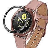 JAAIFC Per Samsung Galaxy Watch 3 41mm 45mm Anello di Cornice Styling Telaio Protettivo Copertura Adesivo antigelo antigelo Cornice in Acciaio Inox (Band Color : Black, Band Width : 45mm)