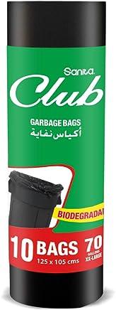 Sanita Club Garbage Bag Biodegradable 70 Gallons 10 Bags (Black)