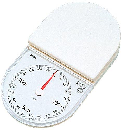 タニタ クッキングスケール キッチン はかり 料理 アナログ 1kg 5g単位 ホワイト 1445-WH