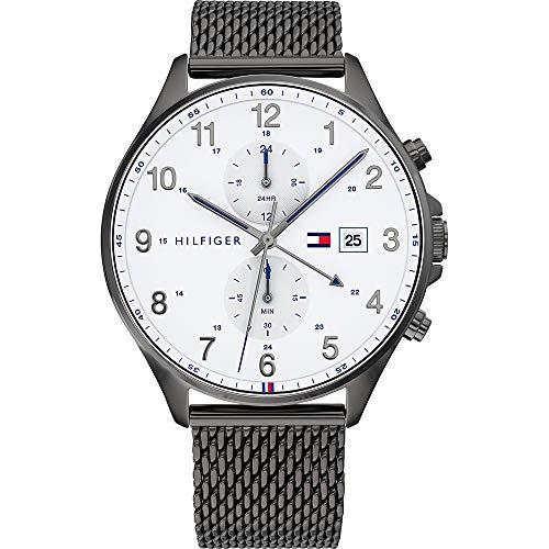Tommy Hilfiger Reloj Analógico para Hombre de Cuarzo con Correa en Acero Inoxidable 01791709