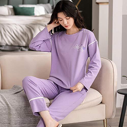 TDYSDYN Mujer Otoño Invierno Pijama de Dos Piezas,Pijama de Mujer de algodón de otoño e Invierno de Talla Grande, 805_XXXXL,Pijamas Mujer Pijama Fleece Set