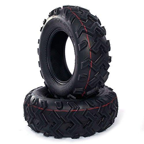 25x8-12 ATV UTV All-Terrain Tires 6 Ply P306 12 inch Rim Tubeless Front All Trail Tires set of 2