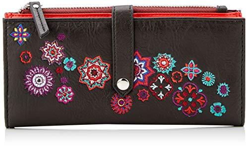 Da Donna Nera in Pelle Grande Coin Pouch borsa 3 scomparti RFID Blocco