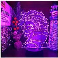 3Dイリュージョンナイトライト 映画アニメーションの主人公 キッズベッドサイドランプ7色段階的に変化するタッチスイッチ3Dナイトライトキッズ目の錯覚ランプキッズランプギフトのアイデアとして女の子