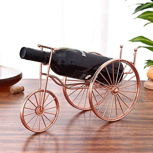YZT QUEEN Retro driewieler wijnrek displaystandaard, metalen wijnrek, vrijstaande antieke huisdecoratie