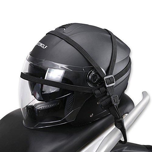 Schutzausrüstung Motorradzubehör Gepäckhaken Motorrad Gepäcknetz Organizer Halter Helmnetz Praktisch