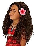 Rubie 's offizielle Disneys-Moana-Perücke, mit Blumen-Kostümzubehör.