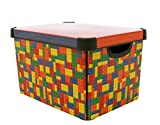 CURVER 22 litros plástico Stockholm Deco Brights Caja de almacenaje,...