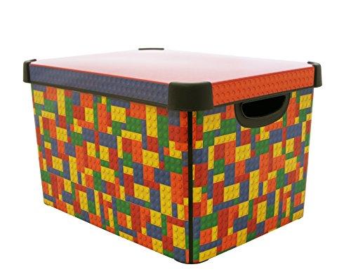 Curver Stockholm Deco Boîte de Rangement en Plastique Multicolore 22 l