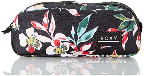 Roxy DA ROCK, Estuche para lápices. para Niñas, Color gris antracita Wonder Garden S, Medium
