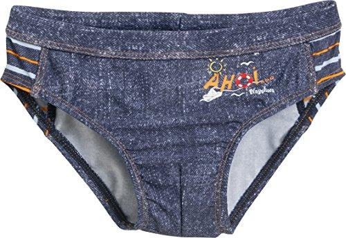 Playshoes Jungen UV-Schutz AHOI Badehose, Blau (Jeansblau 3), 110 (Herstellergröße: 110/116)