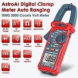 AstroAI Digital AC/DC Pinza de corriente Voltaje, Corriente Resistencia Capacitancia Frecuencia Prueba de diodo Corriente Alterna, Resistencia, Continuidad, Diodos de prueba