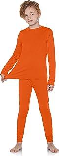 TSLA Kid's & Boy's and Girl's Thermal Underwear Set, Soft Fleece Lined Long Johns, Winter Base Layer Top & Bottom