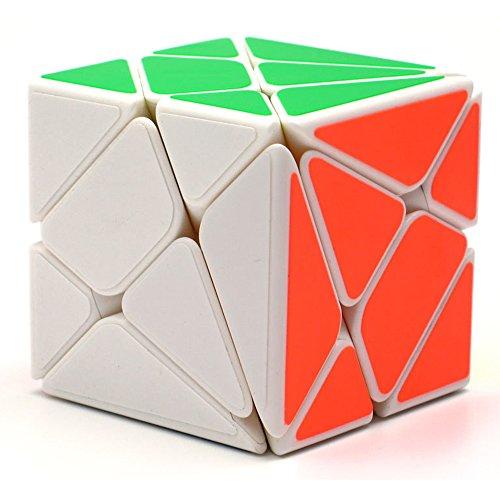 HJXDtech- Yongjun Juguetes educativos Clásico Blanco 3 espadachín Conjunto mágico del Cubo Irregular de la torcedura del Rompecabezas del Cubo (Axis Cube)