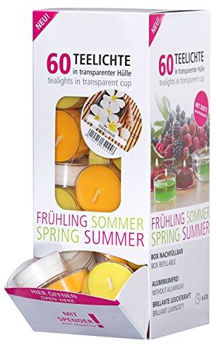 Smart Planet® - Juego de 60 Velas perfumadas Frangipani, en dispensad
