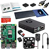 Vilros Raspberry Pi 4 4GB Complete Desktop Kit with Keyboard and Mouse Set (Black Case)