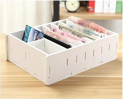 Caja de almacenamiento de madera para teléfono móvil, organizador de múltiples celdas, para reparación de gadget, madera, blanco, 8 gird: Amazon.es: Bricolaje y herramientas
