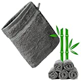 KERNWARE® Waschlappen(5 Stück in Grau) 70%Bambusanteil mit beschützend weichem Hautgefühl -...