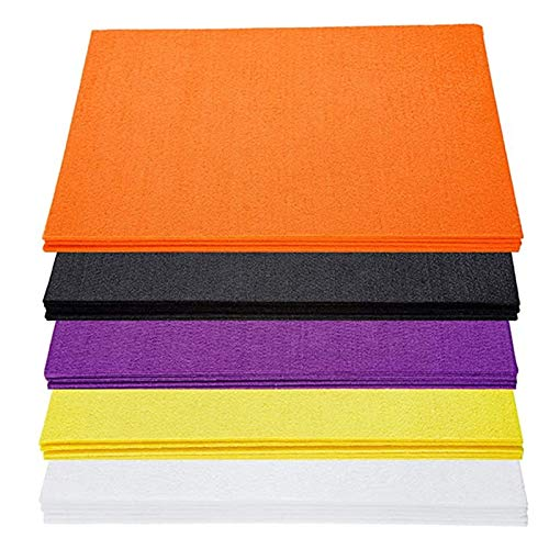Janly Clearance Sale Stiff Felt Sheets for Crafts, 9x12 in 3mm Thick Colored Craft Fabric Hard Pieces for Kids, Crafting, Sewing, Art Projects , Home DIY for Easter Day (A)