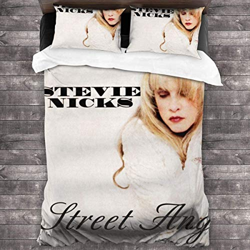 'N/A' Stevie Nicks Street Angel All-Season Cover Set Quilt Cover (1 Cover 2 Pillowcases) 3 Piece Bedding Set 86' x70