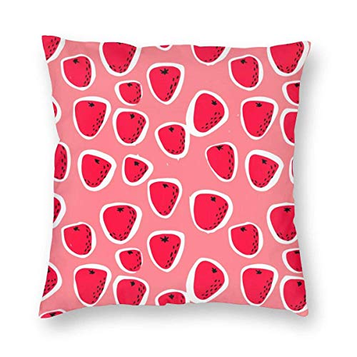 QUEMIN Throw Pillow Cover Colorful Lips Decorative Square Pillowcase Throw Cushion Case for Bedroom, Living Room, Sofa, Couch and Bed, 18 X 18 Inches