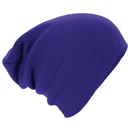 Beechfield Unisex B461 Slouch Beanie Baseball Cap, violett, One Size