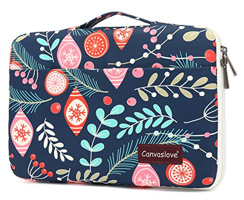 Canvaslove Conner Bottom Rebound Bubble Protection Waterproof Laptop Sleeve Case with Handle and Pockets (15.6 inch, Gift Leaf)