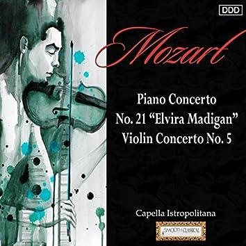 """Mozart: Piano Concerto No. 21 """"Elvira Madigan"""" - Violin Concerto No. 5"""