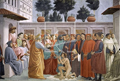 Gifts Delight Laminated 17x11 Poster: Tommaso Masaccio - Masaccio Resurection of Theophilus ALS Leinwand von Masaccio to