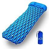 EKKONG Aufblasbare Isomatte, Ultraleichte Schlafmatte, Leicht Kleines Packmaß Luftbett für Camping, Outdoor, Reise, Wandern, Strand