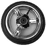 Kinderwagen Vorderrad Schwenkrad Capri ohne Gabel, Reifen 225x48 luftbereift, Kunststofffelge Silber